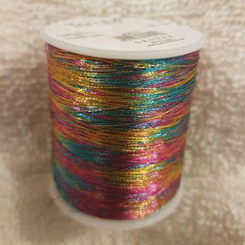 Trimits 180mtr  Embroidery thread metallic rainbow
