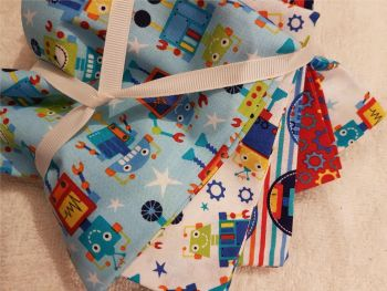 Craft cotton co fat quarter pack robot dreams