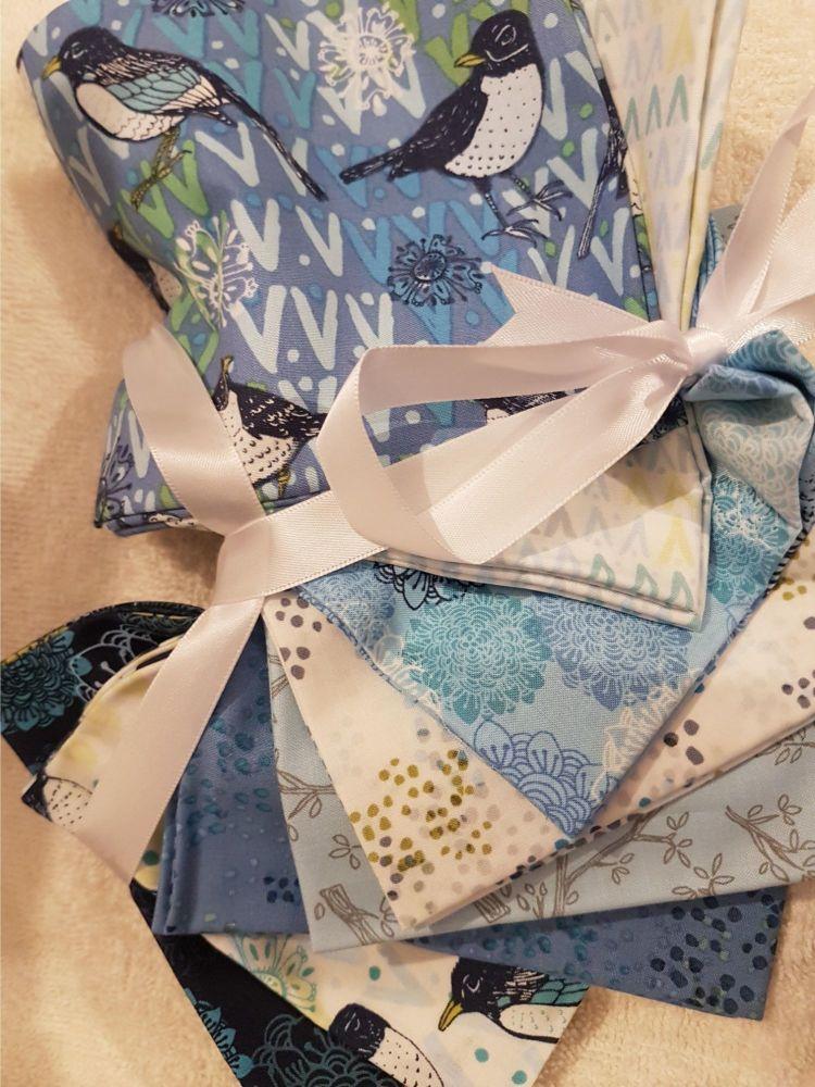 Clothwork's fat quarter bundle x 8  Spring Robins