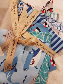 Riley Blake design fat quarter bundle x 8  Sharktown