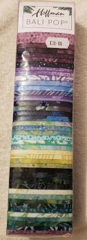 "Hoffman Bali pop meadow 40  x 2.5"" x 44/45"" fabric strips"