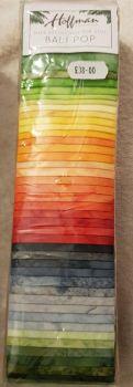 "Hoffman Bali pop mercury 40  x 2.5"" x 44/45"" fabric strips"