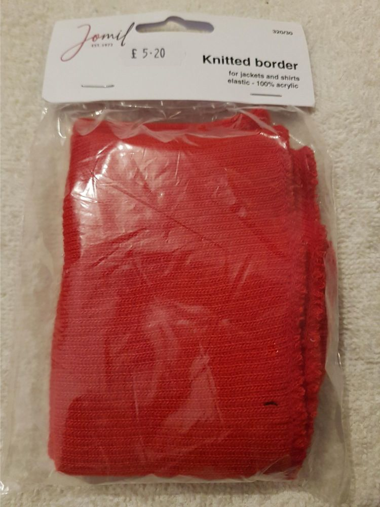 Jomil knitted border elastic red