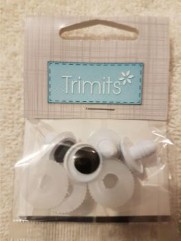 safety toy eyes Trimits 15mm pack of 4