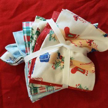Christmas Fat Quarter Bundle little red boots by Kathyrn Coyle