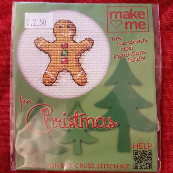 Mouseloft make-me cross stitch Gingerbread Man