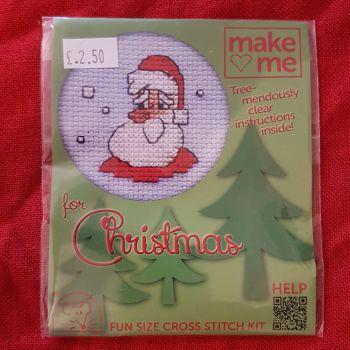Mouseloft make-me cross stitch Santa