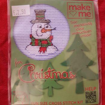 Mouseloft make-me cross stitch Snowman
