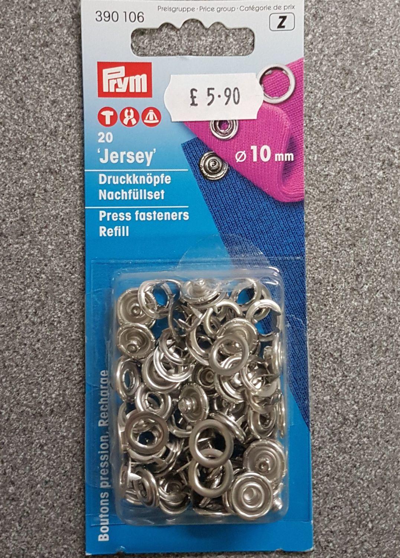Prym 390-106 press fasteners refill 10mm x20