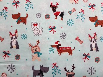 Craft cotton co 2808-01 Freddie and Friends Christmas fabric 100% Cotton Fabric Material PRICED PER 0.5 (HALF) METER