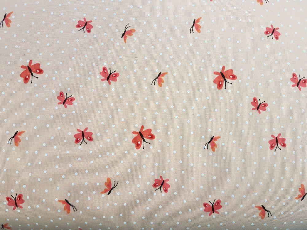 Jersey print cotton KC1532-132 Butterfly