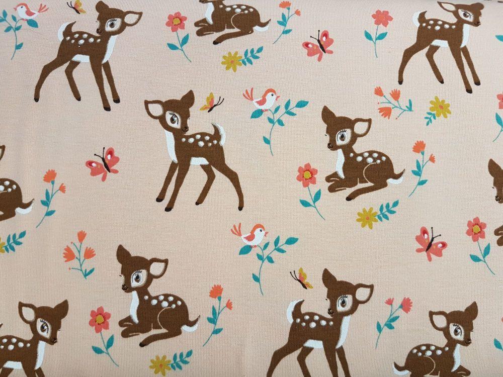 Jersey print cotton KC1532-032 Bambi
