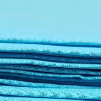 Craft cotton co 2230-45 homespun PD turq 100% Cotton Fabric PRICED PER 0.5 (HALF) METER