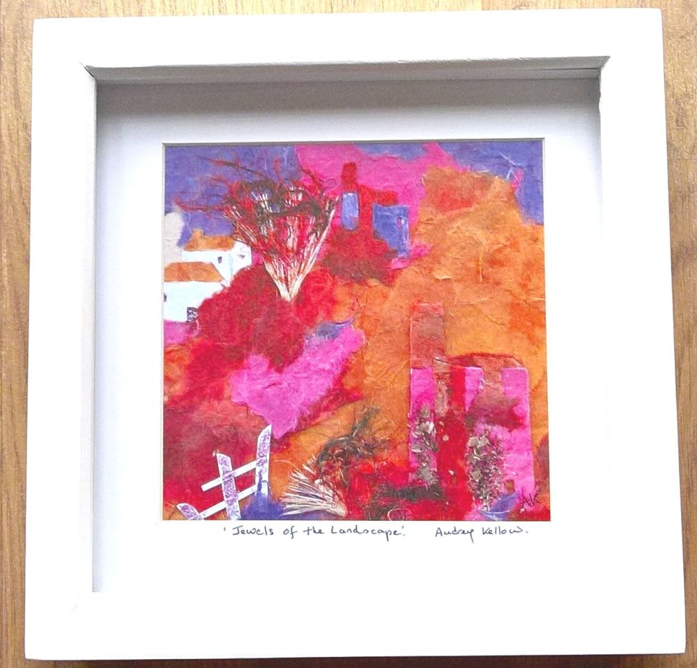 Framed print - Jewels of the Landscape 8 inch x 8 inch.