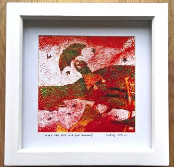 Framed print - Mining 4. Over the Hill and Faraway 8 inch x 8 inch.