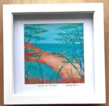 Framed print - Round at Loe Bar. 8 inch x 8 inch.