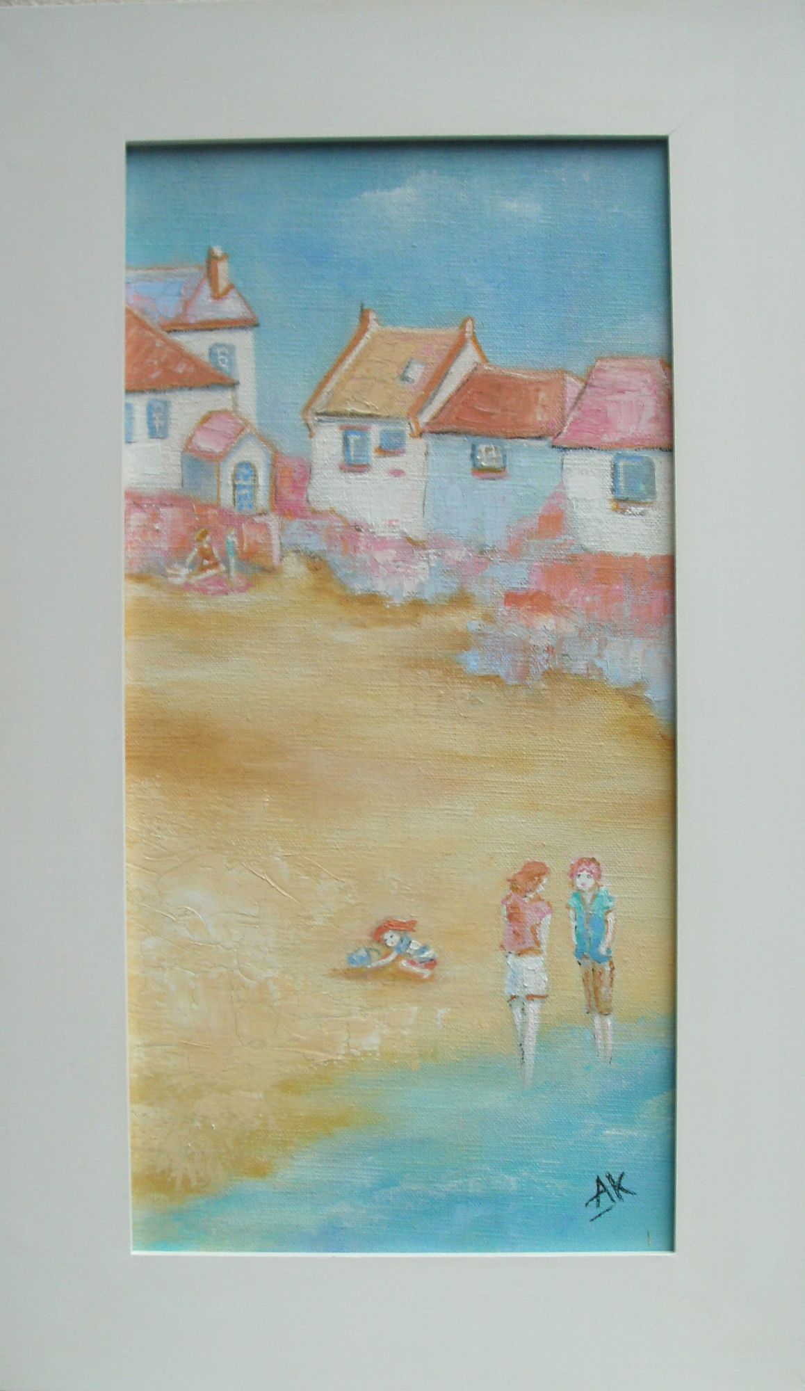 Saffron Summer. Framed Oil on Canvas. 30cm x 50cm.  £350