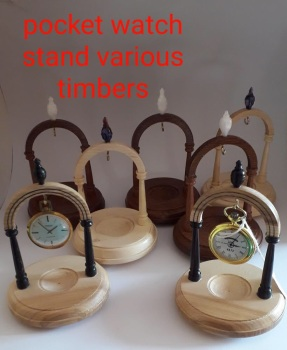Hand turned pocket watch stand