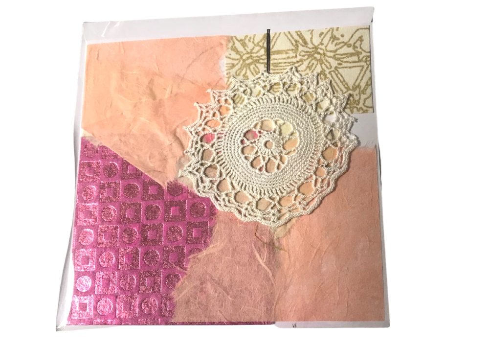 Torn paper Christmas card