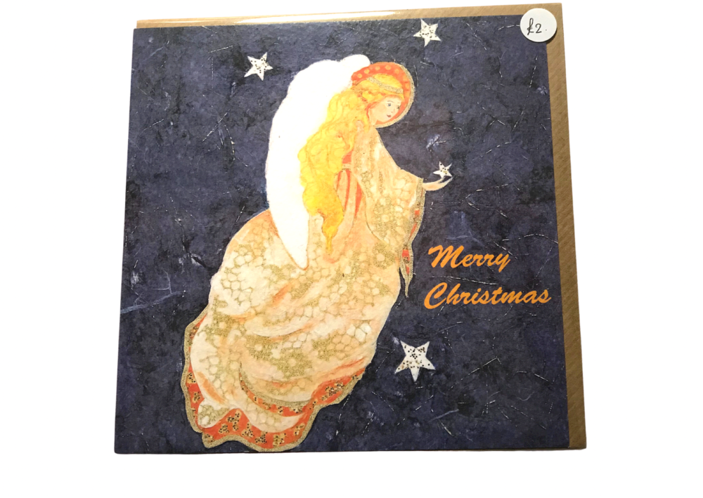 Star angel - Printed card by Audrey Kellow