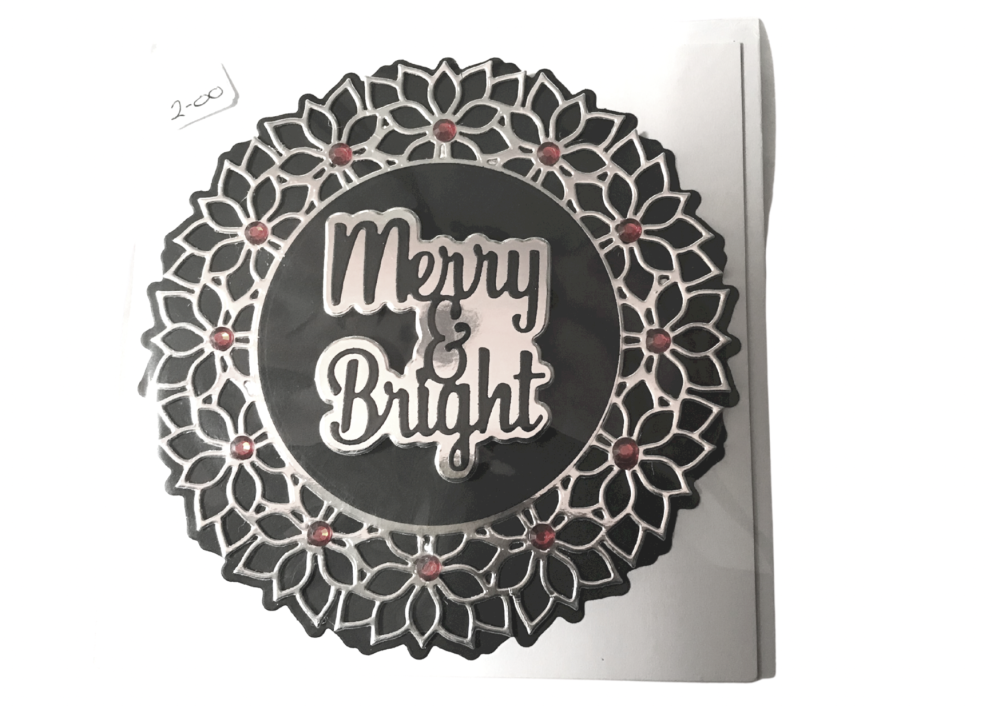 Round Christmas card by Alison Gilbert