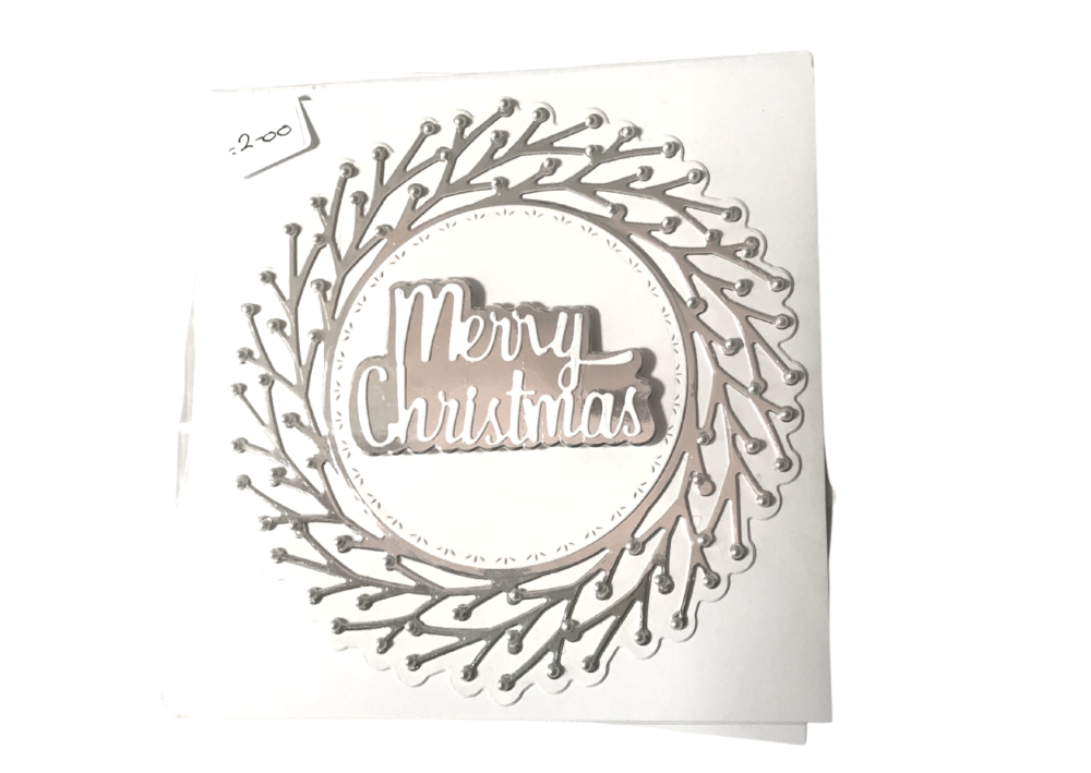 Round silver Christmas card by Alison Gilbert