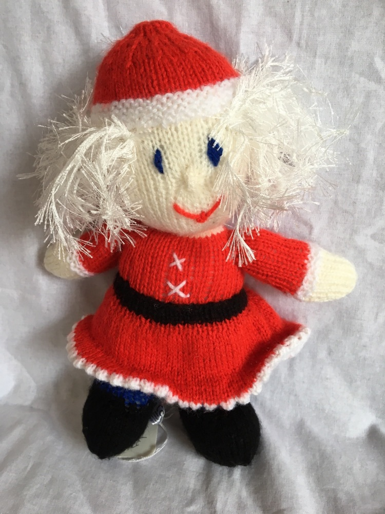 Mother Christmas Christmas, hand knitted by Kernow Knitting