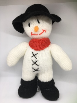 Large snowman, hand knitted by Kernow Knitting
