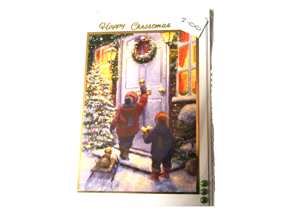 Carol singers Christmas card by Alison Gilbert