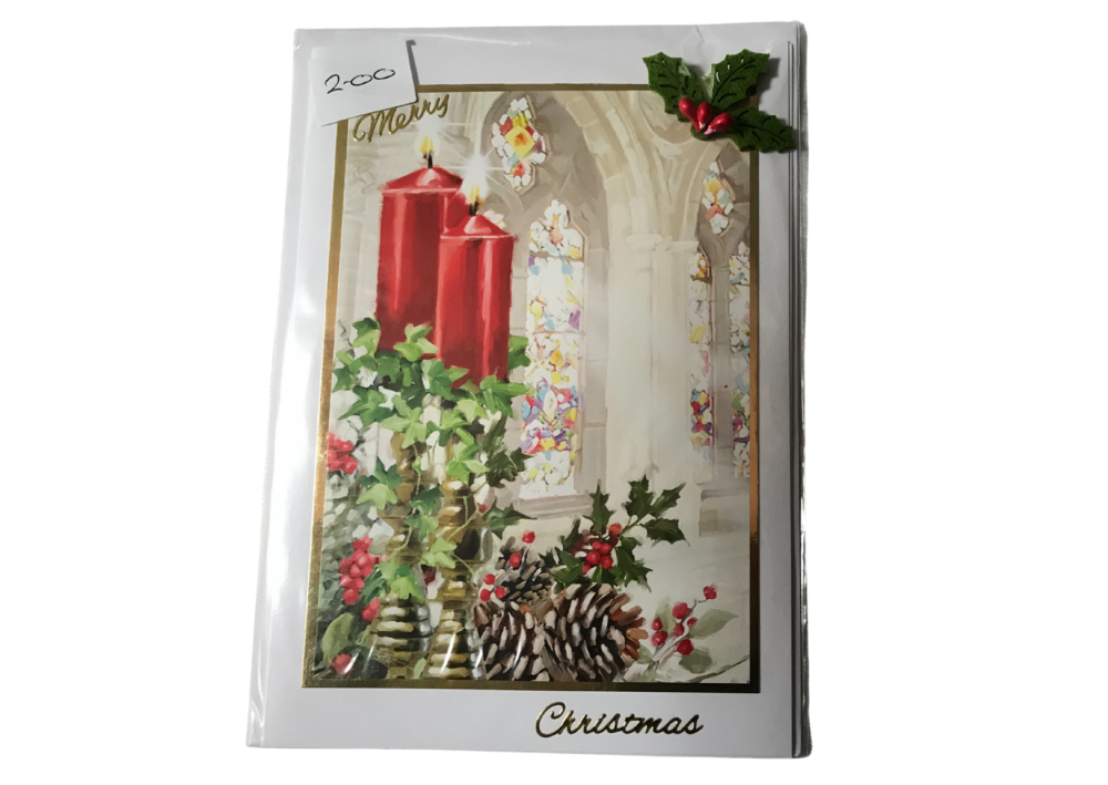 Candles Christmas card by Alison Gilbert