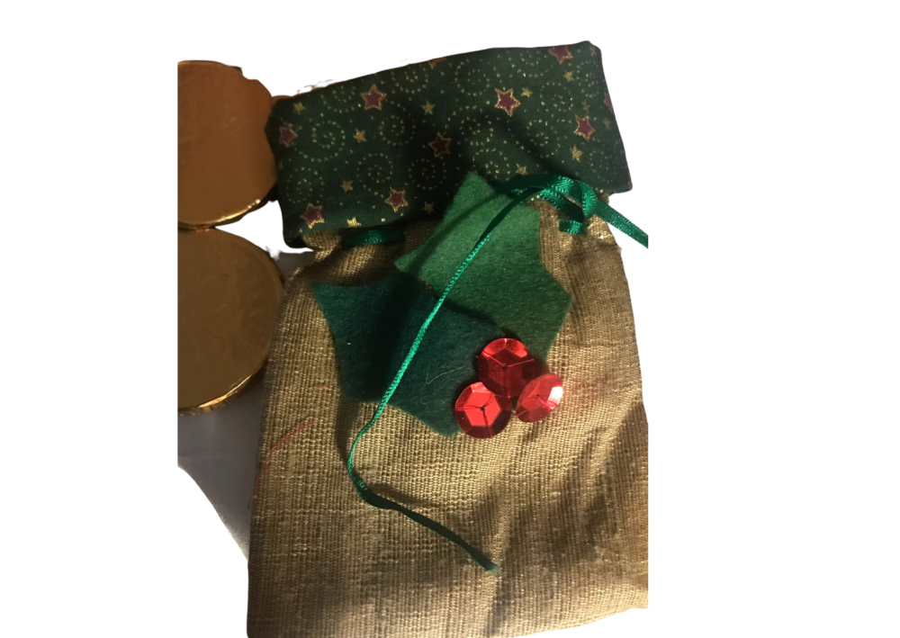 Cotton and silk gift bag by Annette Costello