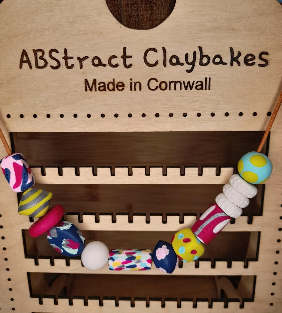 Polymer clay multi shape necklace by ABstract Claybakes