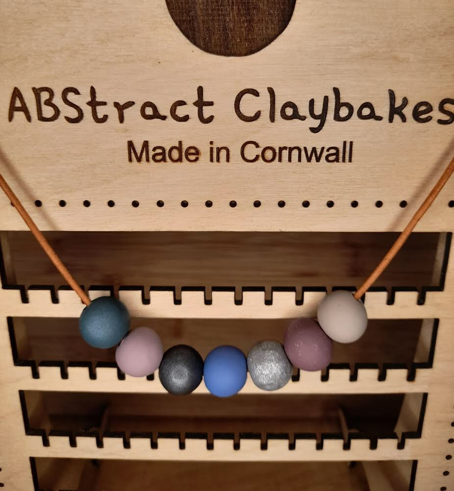 7 bead necklace set  by ABstract Claybakes