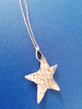 Stirling silver star pendant