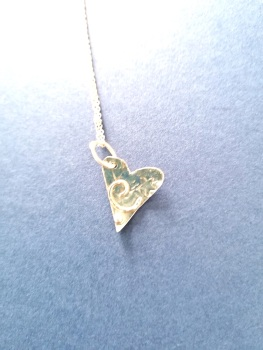 Stirling silver large ornate heart pendant