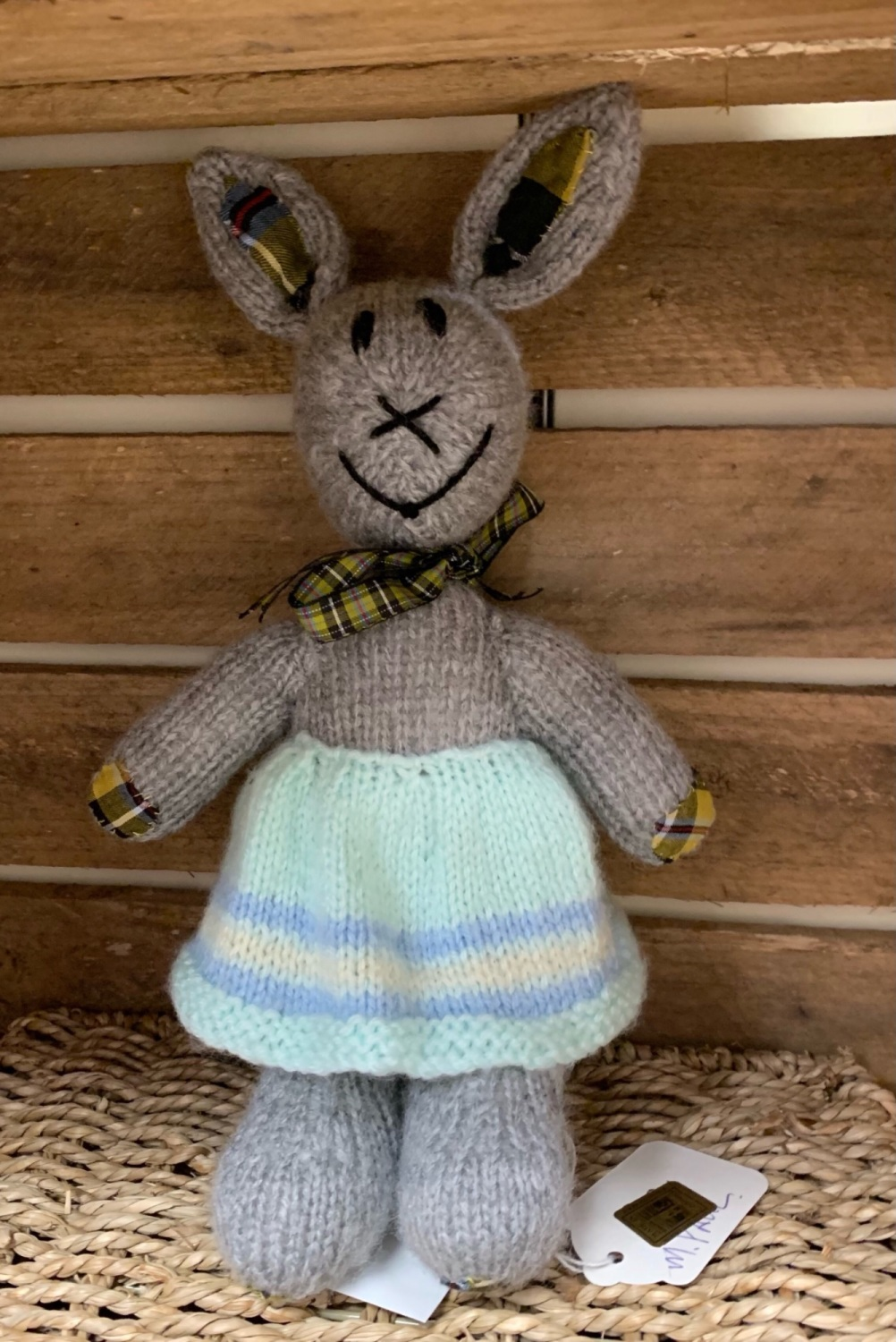 Mrs Rabbit - hand knitted and CE tested