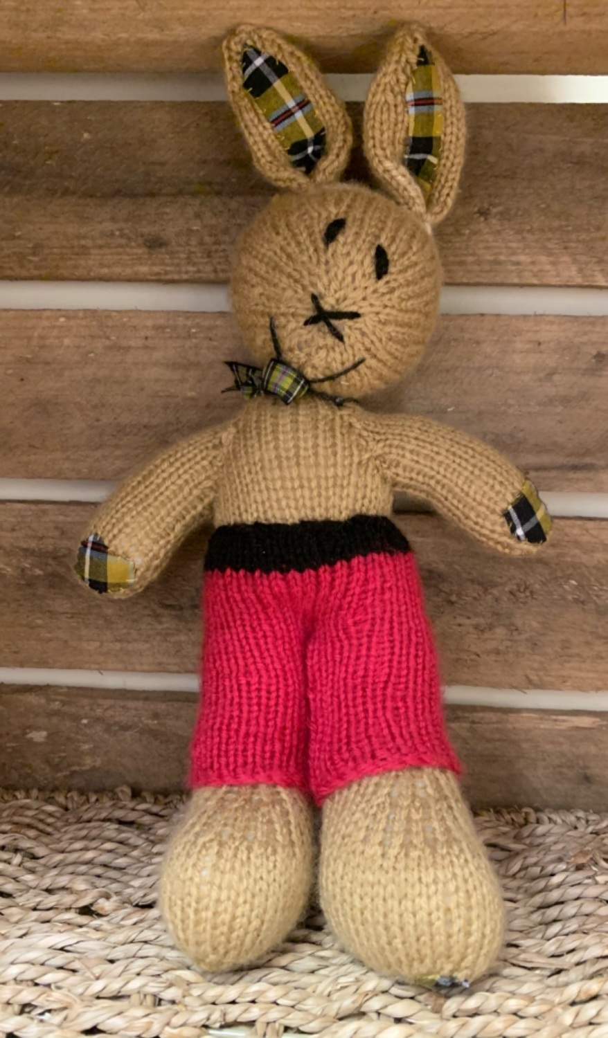 Mr Rabbit - hand knitted and CE tested