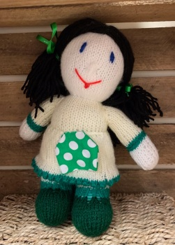 Hand knitted Mrs Dolly