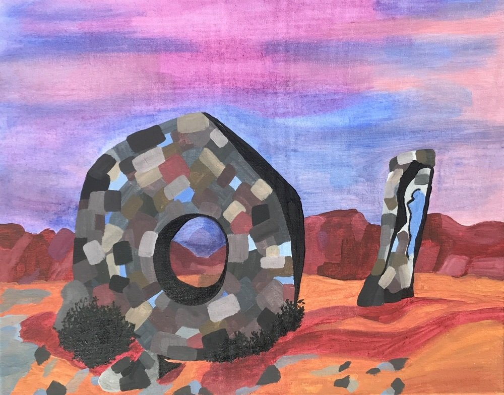 Magisterial Men-an-Tol - acrylic on canvas