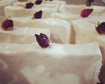 rosebud topped soap