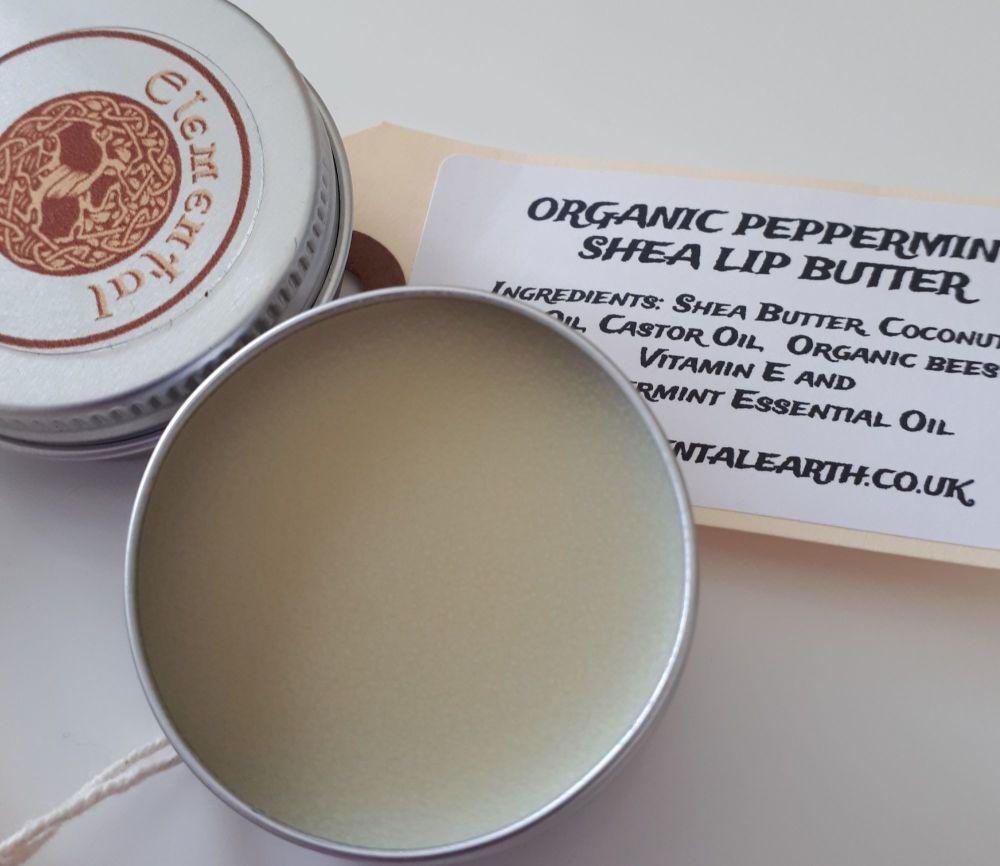Organic Peppermint Shea Lip Butter