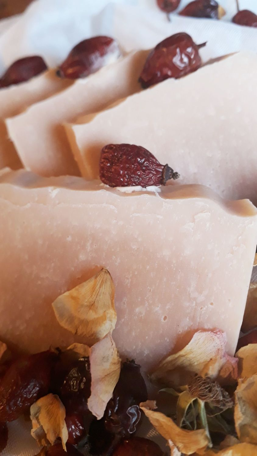 Wild Rosehip Soap with French Pink clay