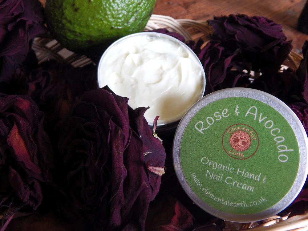Organic Rose & Avocado Hand and Nail Cream
