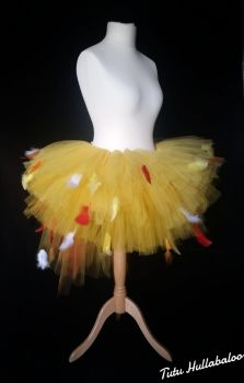 Chicken Feathered Tutu Yellow - Adult