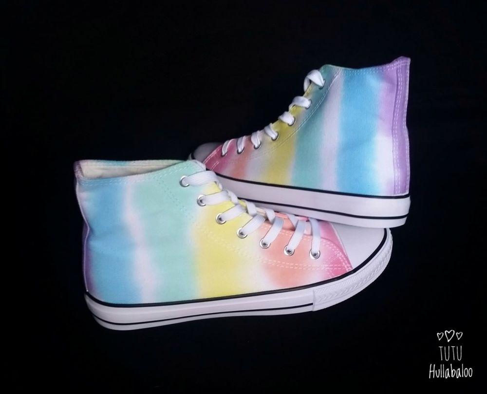 Rainbow/White Hightops