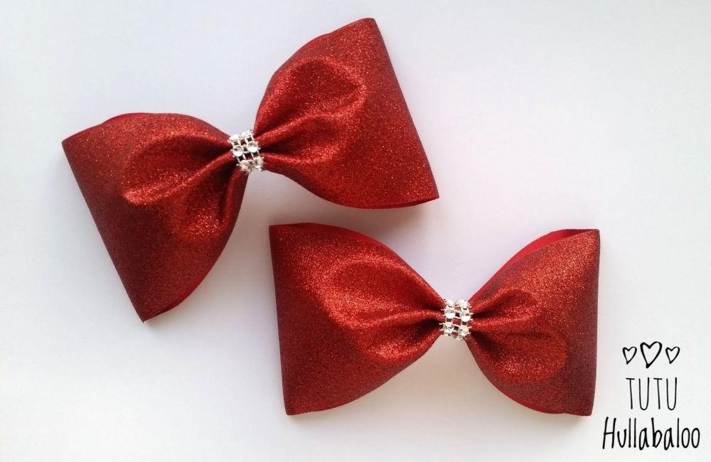 Glitter Tux Bow