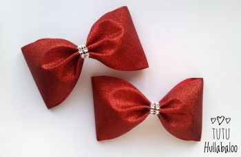 Glitter Tux Bow Red
