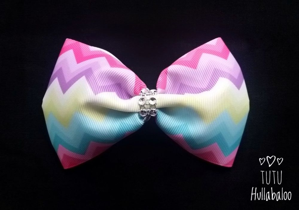 Colourful Zig Zag Tux Bow