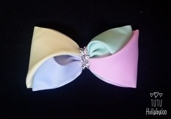 Mixed Pastel Twisted Tux Bow