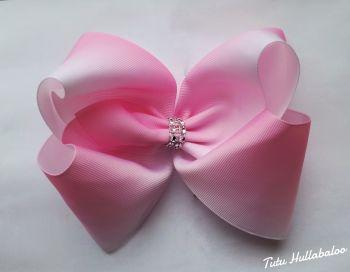 Ombre Pink/White Mega Bow